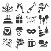 pic of party hats  - icon party celebrate for web and print - JPG