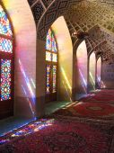 picture of shiraz  - Colourful light of glass stained windows - JPG