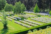 stock photo of world war one  - New British Cemetery world war 1 flanders fields