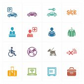 picture of babysitting  - This set contains 16 hotel icons that can be used for designing and developing websites - JPG
