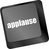 foto of applause  - Computer keyboard with applause key  - JPG