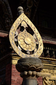 stock photo of dharma  - Architectural detail of buddhist monastery  - JPG