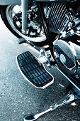 stock photo of gear-shifter  - Detail with the foot - JPG