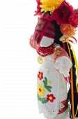 picture of rag-doll  - Folk handmade doll in traditional dress with embroidery - JPG