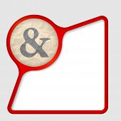 picture of ampersand  - abstract frame with texture of crumpled paper and ampersand - JPG