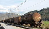pic of covered wagon  - These wagons are used for transporting liquid - JPG