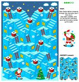 picture of christmas theme  - Christmas or New Year themed 3d maze game with stairs - JPG
