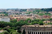 picture of emanuele  - Rome aerial view from Vittorio Emanuele monument. Italy. ** Note: Visible grain at 100%, best at smaller sizes - JPG