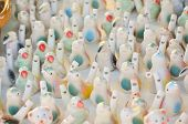 picture of pottery  - Whistles in shape of birds at ceramic pottery fair in Romania - JPG