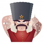 stock photo of stereotype  - angry russian or soviet man - JPG