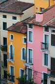 picture of vicenza  - View from above of some characteristic colored palaces in Vicenza