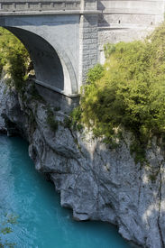stock photo of bonaparte  - Napoleon bonaparte bridge first it was wooden than they made a stone one built in 1750 - JPG