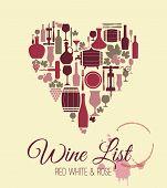 foto of sparkling wine  - Wine menu card - JPG