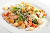 picture of romaine lettuce  - Caesar Salad with Seafood - JPG