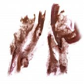 stock photo of insults  - Abstract brown watercolor hand painted background insult Rorschach psychology - JPG