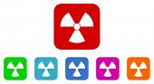picture of nuclear bomb  - nuclear vector icons set - JPG