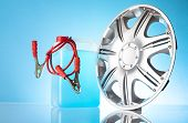 image of rectifier  - group of car accessories including windshield washer fluids - JPG