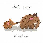 stock photo of mammoth  - Climb every mountain - JPG