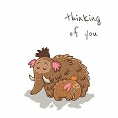 image of mammoth  - Thinking of you - JPG