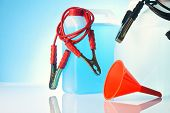 picture of rectifier  - windshield washer fluids and car accessories isolated - JPG