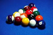 stock photo of snooker  - Snooker Table - JPG