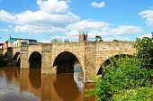 foto of hereford  - The Wye Bridge and the River Wye with the cathedral to the rear Hereford Herefordshire England UK Western Europe - JPG