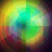 foto of parallelepiped  - retro background made from a triangles twirls - JPG