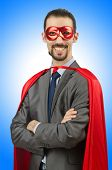 stock photo of superman  - Superman isolated on the white background - JPG