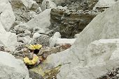 stock photo of gunung  - KAWAH IJEN JAVA INDONESIA  - JPG