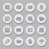 stock photo of bank vault  - Finance and Banking icons - JPG