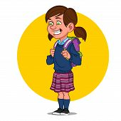 image of caricatures  - school girl - JPG