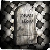 Halloween Tombstone Degraded