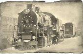 stock photo of novosibirsk  - steam locomotive a museum Novosibirsk Imitation old a photo - JPG