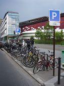 Постер, плакат: Парковка для велосипедов