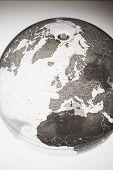 picture of northern hemisphere  - Inflatable Globe showing Northern Hemisphere - JPG