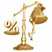 Unbalanced Realty Scale Percentage And Gold Home poster