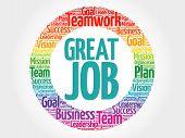 Great Job Circle Word Cloud poster