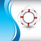 Постер, плакат: Кольцо жизни на фоне вертикального Голубая волна