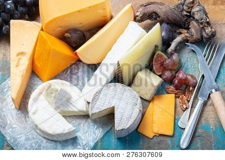 Famous European Cheeses In Assortment
