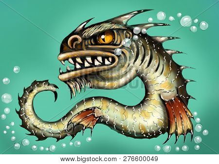Sea Monster Water Dragon Fish