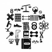 College Icons Set. Simple Set Of 25 College Icons For Web Isolated On White Background poster