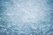 Blue Ice In Skate Scratches, Abstract Background poster