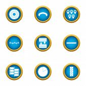 Transfer Info Icons Set. Flat Set Of 9 Transfer Info Icons For Web Isolated On White Background poster