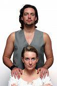 Formal Couple Portrait poster