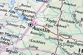 picture of texas map  - Austin  - JPG