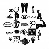 Anatomy Icons Set. Simple Set Of 25 Anatomy Icons For Web Isolated On White Background poster