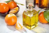 Tangerine Essential Oil. Mandarin Orange Oil For Skin Care, Spa, Wellness, Massage, Aromatherapy And poster