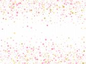 Rose Gold Confetti Circle Decoration For New Year Card Background. Holiday Vector Pattern. Gold, Pin poster