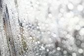 Water Drop Fresh Condensation On Window Glass Texture, Rainy Season Wet Background Cooling Feels And poster