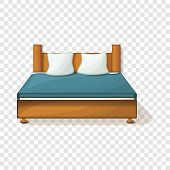 King Size Bed Icon. Cartoon Of King Size Bed Icon For Web Design poster